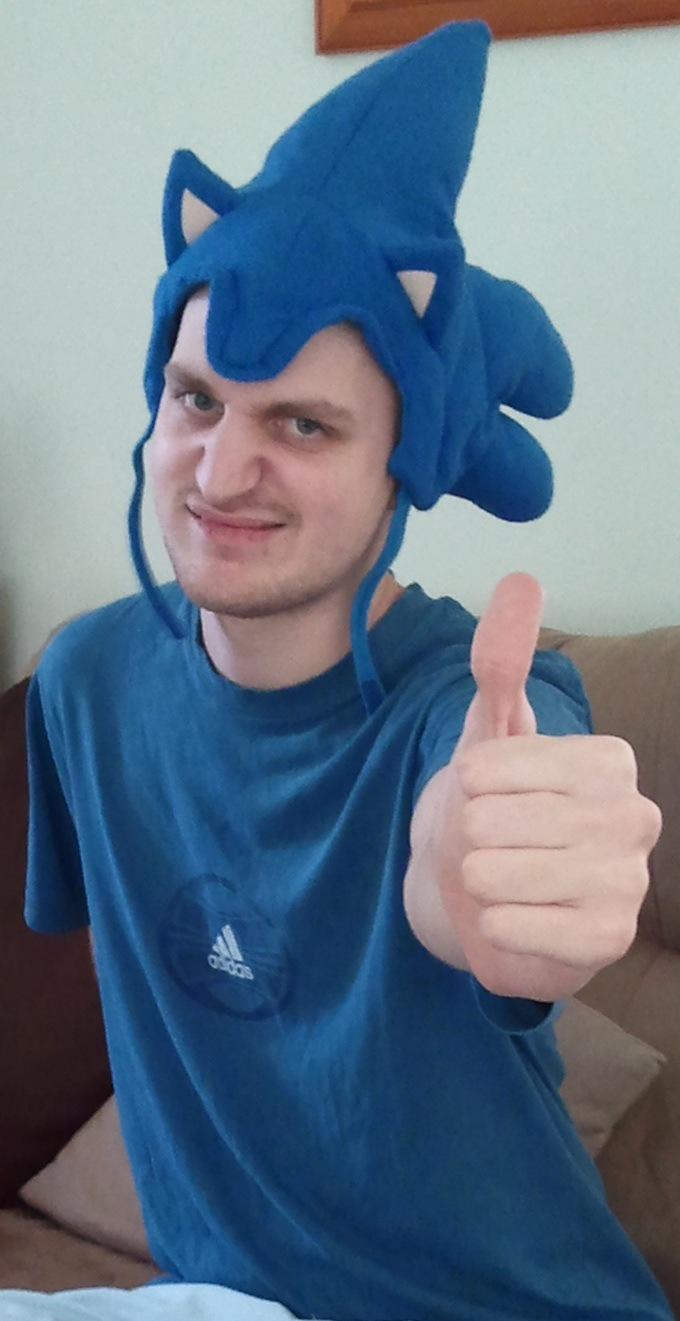 Me in my sonic hat