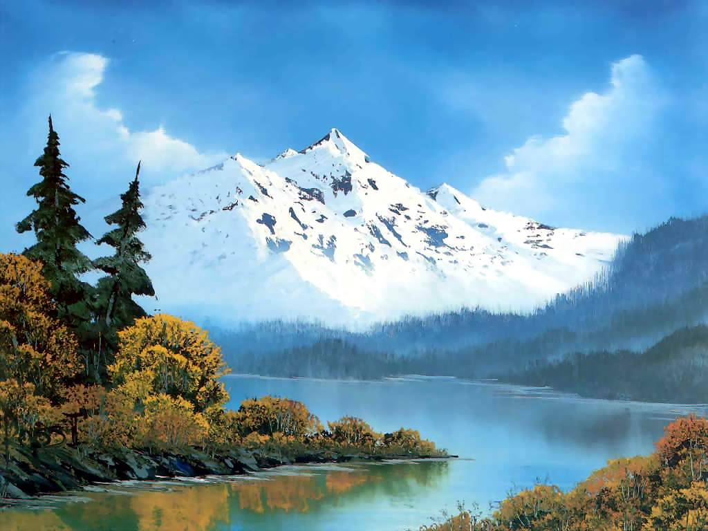 Bob Ross landscape painting