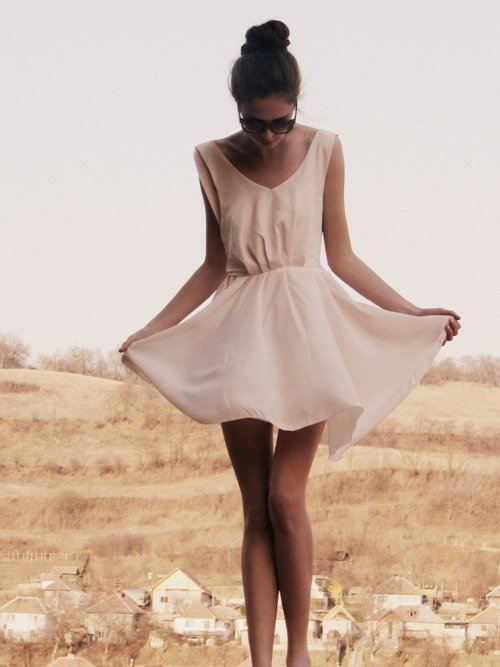 Very Simple White Dress