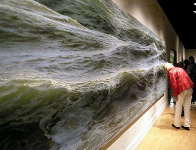 Open Water - oil painting on canvas by Ran Ortner