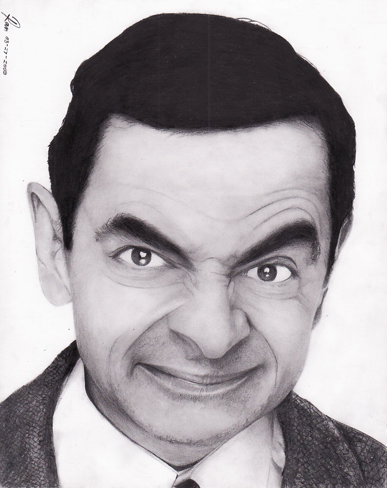 Mr. Bean funny face