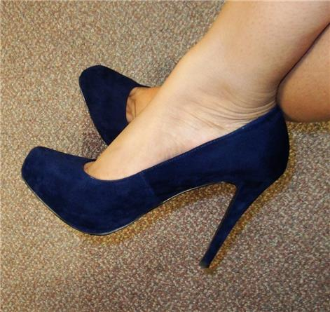 Navy Blue Suede shoes